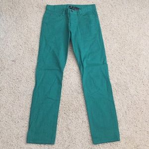 H&M men's teal cotton pants (skinny fit)